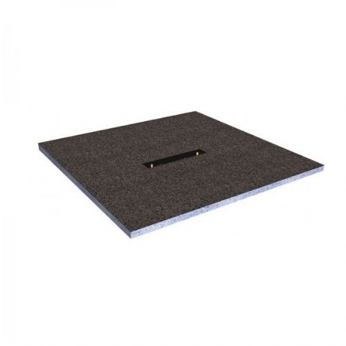 Abacus Elements Linear Level Access Square Shower Tray With Centre Drain - 1000mm Wide